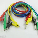 5pcs High Voltage Silicone Cable Alligator Test Clip To Banana Plug 5 Colors 3FT