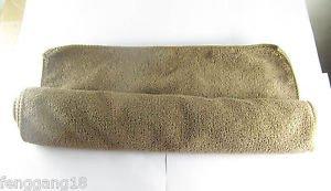 1x Brown 76x34cm Microfiber Towel Cleaning Cloth Ultra Absorbent Car Micro Fiber