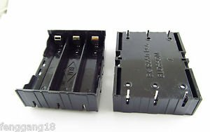 Hold Three 3 Li-ion lithium 18650 DIY Battery Box Holder Case W/ 6 Pins Contact