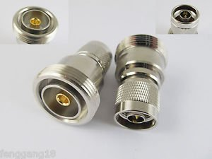 L29 7/16 DIN Female Jack to N Male Plug Straight RF Coaxial Adapter Connector