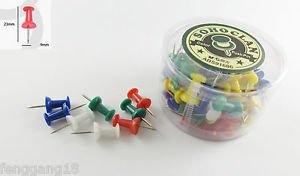 80pcs M&G Multi Color Colorful Plastic Heads Push Pins Assorted Thumb Tack