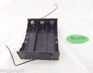 1x Hold Three 3 Li-ion 18650 Battery Holder Case Series 11.1V With 2 Leads Wire