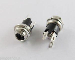 10pcs New 5.5 mm x 2.5mm DC Power Jack Socket Female Panel Mount Connector