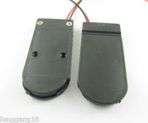 2x CR2032 X 2 Button Coin Cell Battery Holder Case Box w on/off Switch Wire Lead