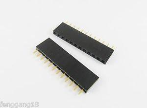 20pcs 1x12 Single Row Flat Header Socket 12 Pins PCB Socket Female Header 2.54mm