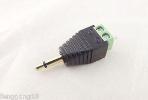"""Adapter Converter 3.5mm 1/8"""" Mono Male Plug To AV Screw Video AV Balun Terminal"""