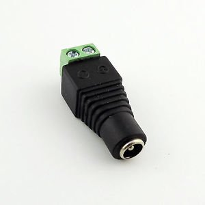 5.5x 2.5mm Female DC Power Jack LED CCTV Video Balun Terminals Adapter Connector
