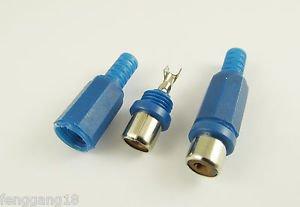 1pcs RCA Phono Female Jack Plug Solder Type Audio Video Cable Connector Blue DIY