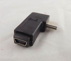 1x USB 2.0 Mini 5 Pin Male To Mini 5 Pin Female M/F Left Angle Adapter Connector