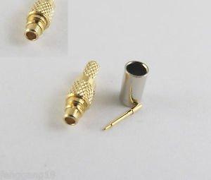 10pcs MMCX Male Plug Straight Crimp RG174 RG316 LMR100 RG179 Cable RF Connector