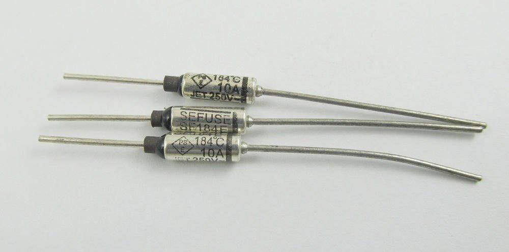 10Pcs Microtemp Thermal Fuse 184°C 184 Degree TF Cutoff SF184E 10A AC 250V New