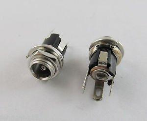 10pcs New 5.5 mm x 2.1mm DC Power Jack Socket Female Panel Mount Connector
