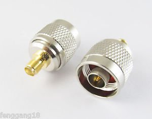 N Male Plug To SMA Female Jack Straight RF Connector Adapter New