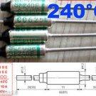 1Pcs Microtemp Thermal Fuse 240°C 240 Degree TF Cutoff SF240E 10A AC 250V New