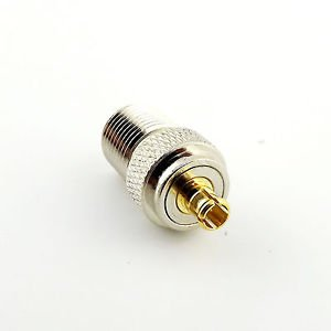 1pcs F Female Jack to MCX Male Plug Straight RF Coax Coaxial Connector Adapter
