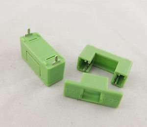 10pcs Fuse Holder DIP PTF-7 6.3A 1.6W 250V Used for 5 x 20mm Green Color