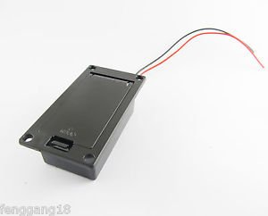 10x 9V Battery Case Holder Cover Box Active Guitar Bass Pickup Electronics Black