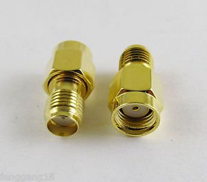 10pcs SMA Female To RP-SMA Male Straight Both Female Center RF Connector Adapter