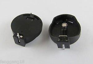 50pcs Portable CR2025 CR2032 Battery Clip Button Coin Cell Holder Box Case Black