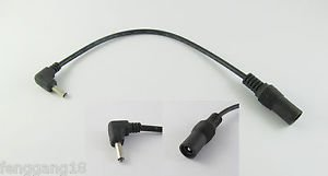10x CCTV DC Power Adapter Cable 5.5x2.1mm Female To Right Angle 3.5x1.35mm Male