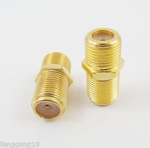 10x Gold F Female To F Female Coupler Straight Coax Gender Changer TV Connector