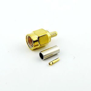 1pcs RP-SMA Male Straight Crimp for RG174 RG179 RG316 RG188 Cable RF Connector