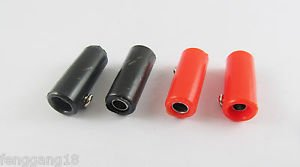 4x Copper 4mm Banana Speaker Jack Female Socket Test Connector Adapter Black Red