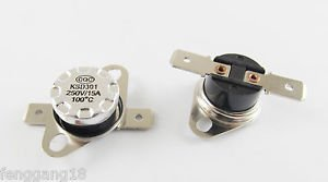 10pcs KSD301 Temperature Controlled Switch Thermostat 100°C N.O. Normal Open