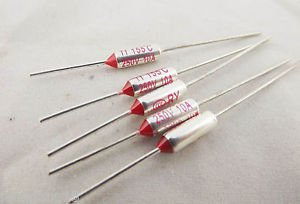 5pcs Microtemp Thermal Fuse 155°C 155 Degree TF Cutoff Cut-off 10A AC 250V New