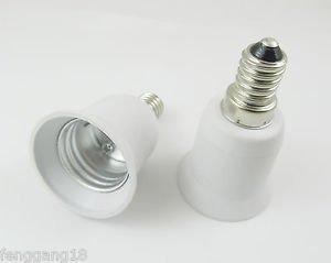 E14 to E27 Socket Base LED Halogen CFL Light Bulb Lamp Adapter Converter Holder