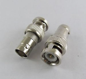 10x BNC Male Plug To BNC Female Straight Coaxial Adapter RF Connector Convertor