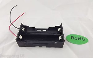 1pcs Hold Two Li-ion 18650 Series Battery Holder Case 7.4V With 2 Lead Wire