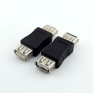10x USB 2.0 A Female Jack to USB 2.0 A Female Coupler OTG F/F Adapter Connector