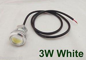 2pcs 3W Thread Mount LED Bulb Car Daytime Running Reversing Light Cable White