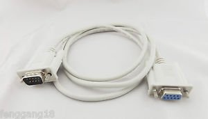 1pcs Serial DB9 9 PIN RS 232 RS232 Male to Female Data Extension Cable Cord