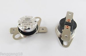 10x Temperature Controlled Switch Thermostat 150°C N.C. KSD301 Normal Close 10A