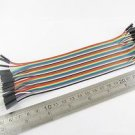 1x 2.54mm 1P To 1P Male To Male Pin Header 20cm Dupont Wire Colorful Cable 40pcs