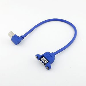 1FT USB 3.0 A Female Panel Mount to B Male Right Angled Printer Data Sync Cable