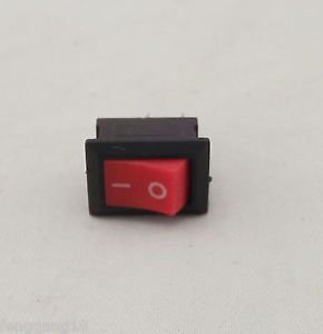1pcs Rocker Power Switch ON/OFF Red Cap 2 Pins Single Way 3A 6A 15x10mm KCD11