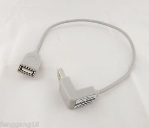 1pcs USB 2.0 Male Plug Right Angle Down Position To USB Female Extension Cable