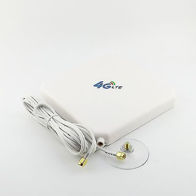 1x Booster Signal GPRS GSM 3G 4G LTE SMA Male 35dBi Antenna 2M Cable 791-2690MHz