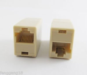 1x RJ45 CAT5 Network Cable Line Connector Adapter Extender Plug Coupler Joiner