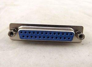 D-SUB DB25 25 Pin Female DIP PCB Solder Connector Adapter DP25 2 Rows Lock Screw