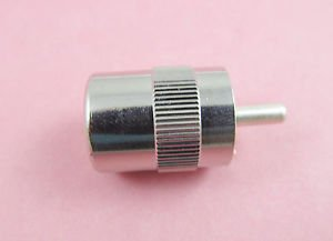 UHF Male PL259 Solder for RG8 RG165 RG213 LMR400 Cable Connector