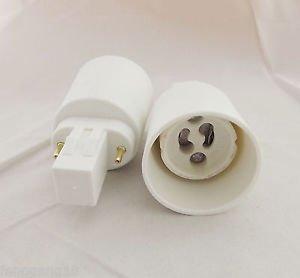 10x GX23 To GU10 Socket Base LED Halogen Light Bulb Lamp Adapter Converter Hold