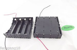 10x Hold Four 4 Li-ion 18650 Parallel Battery Holder Case 3.7V With 2 Leads Wire
