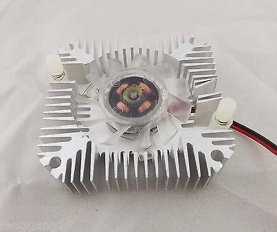 55mm Cooling Fan Heatsink Cooler PC Computer CPU VGA Video Card 12V 2 Pin Silver