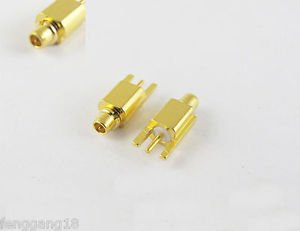 MMCX Male Plug Solder PCB P.C Board receptacle Edge Surface Mount RF Connector