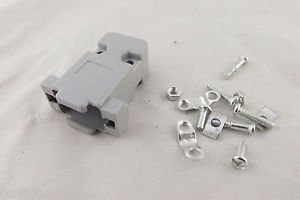 10pcs D-SUB Plastic Hood Cover Backshell & Screws for 9 Pin DB9 15 Pin DB15 VGA