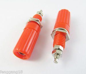 1pcs Binding Post Speaker Cable Amplifier 4mm Banana Plug Jack Connector Red